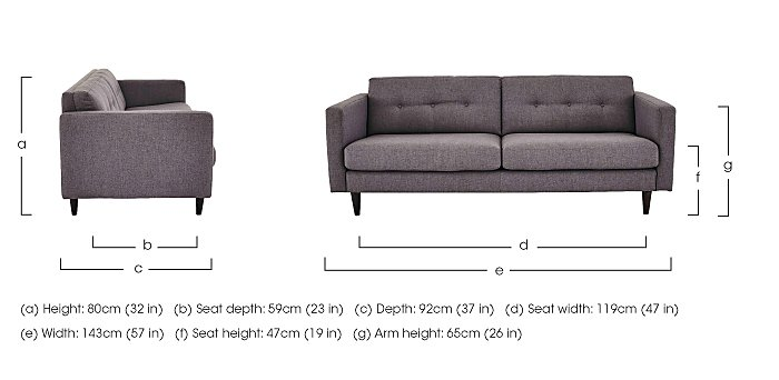 Buttons 2 Seater Fabric Sofa in  on FV