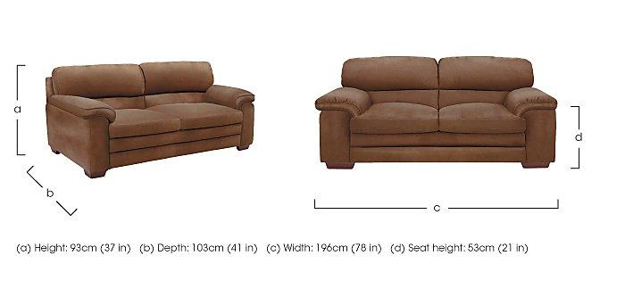 Carolina 2.5 Seater Fabric Sofa in  on FV