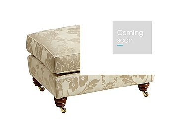 Chelsea Village Fabric Foostool in Wendover Soft Gold on FV