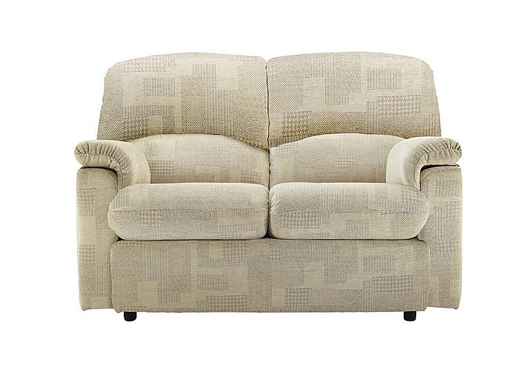 Chloe 2 Seater Small Fabric Sofa in B431 Lydia Linen on FV