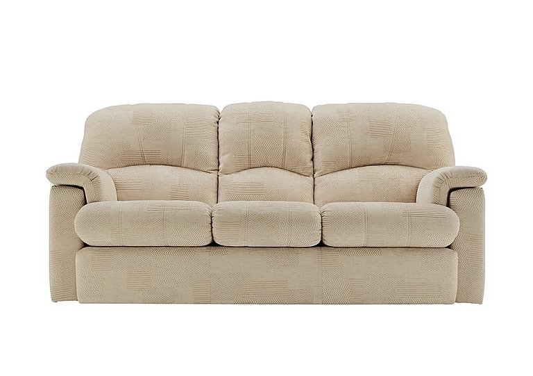 Chloe 3 Seater Fabric Recliner Sofa in C020 Checkers Oyster on FV