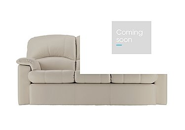 Chloe 3 Seater Leather Recliner Sofa in P219 Capri Putty on FV