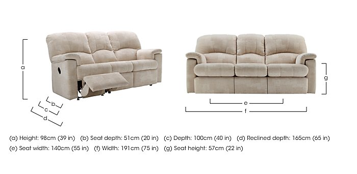 Chloe 3 Seater Small Fabric Sofa in  on Furniture Village