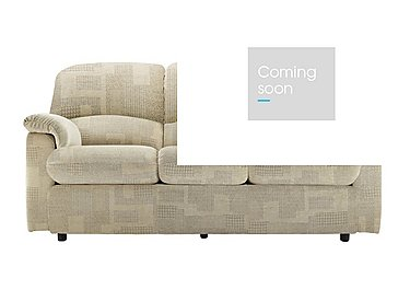 Chloe 3 Seater Small Fabric Sofa in B431 Lydia Linen on FV