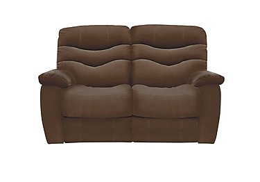 Relax Station Cozy 2 Seater Fabric Recliner Sofa in Bfa-Blj-R05 Hazelnut on Furniture Village