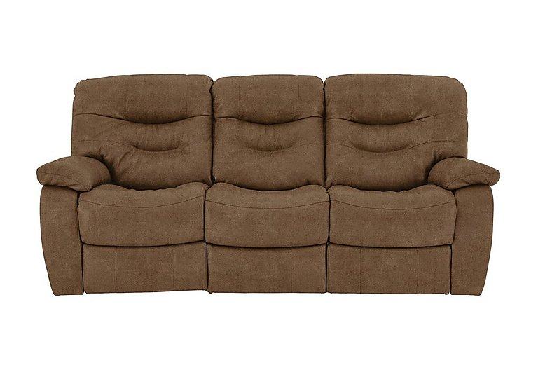 Relax Station Cozy 3 Seater Fabric Recliner Sofa in Bfa-Blj-R05 Hazelnut on Furniture Village