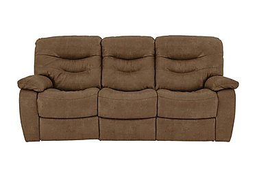 Relax Station Cozy 3 Seater Fabric Recliner Sofa in Bfa-Blj-R05 Hazelnut on FV
