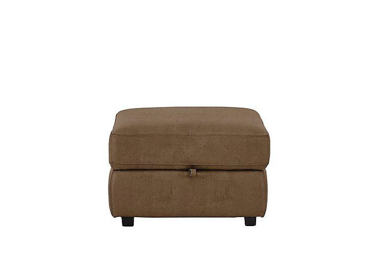 Relax Station Cozy Fabric Storage Footstool in Bfa-Blj-R05 Hazelnut on Furniture Village
