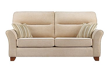 Gemma 3 Seater Fabric Sofa in A071 Boucle Oyster on FV