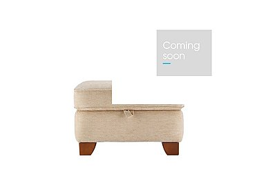 Gemma Fabric Footstool in A071 Boucle Oyster on FV