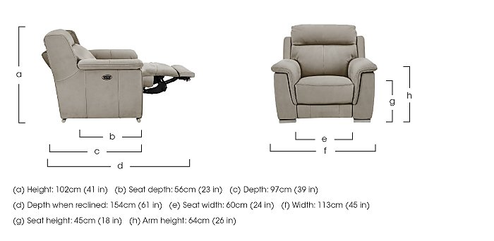Glider Fabric Recliner Armchair in  on FV