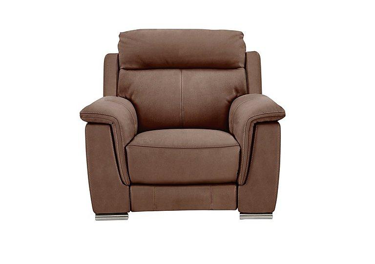Glider Fabric Recliner Armchair