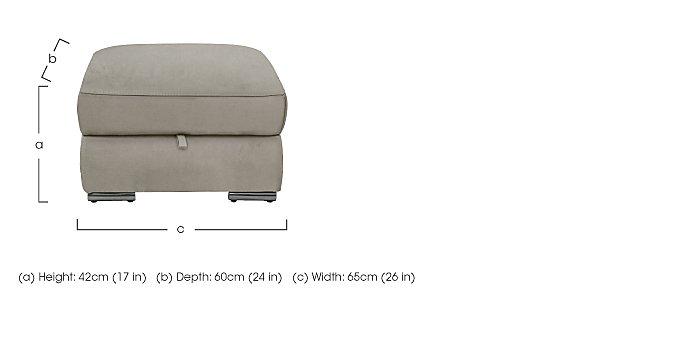 Glider Fabric Storage Footstool in  on Furniture Village