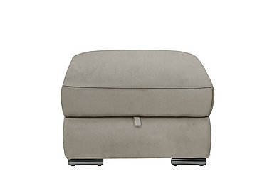 Glider Fabric Storage Footstool in Bfa-Blj-R946 Slvr Grey- on Furniture Village