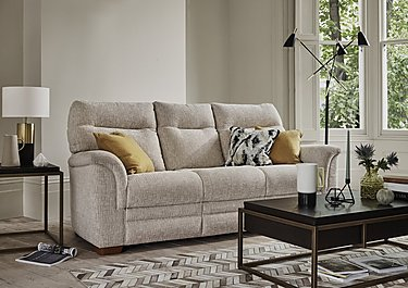 Hudson 2 Seater Fabric Recliner Sofa in  on FV