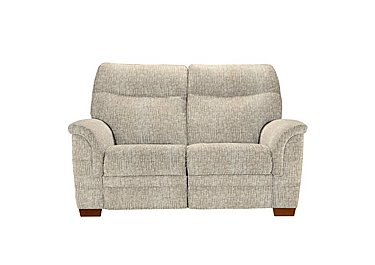 Hudson 2 Seater Fabric Recliner Sofa in Sabrina Beige on FV
