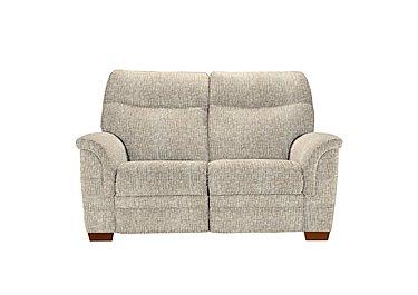 Hudson 2 Seater Fabric Recliner Sofa in Sabrina Beige on Furniture Village