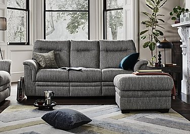 Hudson 3 Seater Fabric Recliner Sofa in  on Furniture Village
