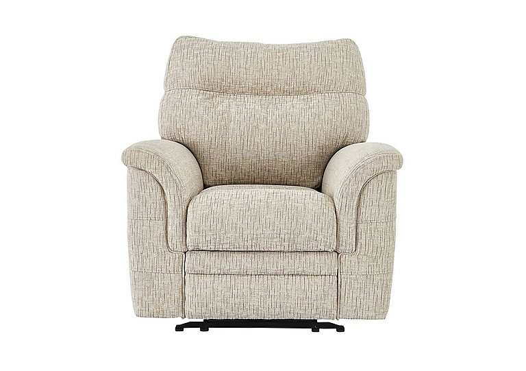 Hudson Fabric Recliner Armchair in Sabrina Beige on Furniture Village