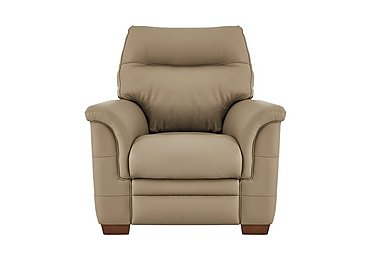Hudson Leather Recliner Armchair in Lp53051-19 Como Taupe on FV