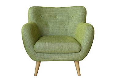 Jasper Large Fabric Armchair in Lemans 1070 Lime on FV