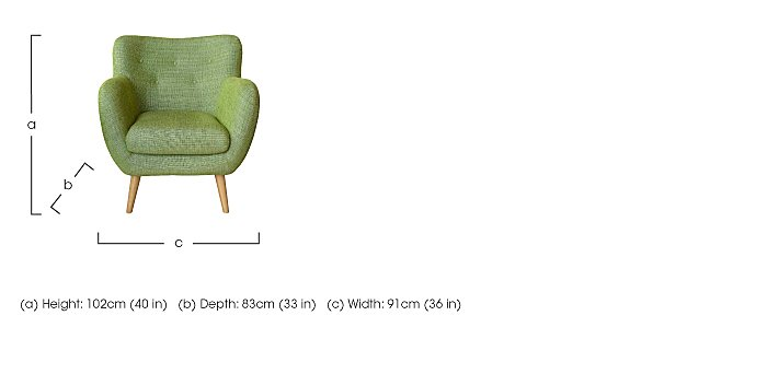 Jasper Large Fabric Armchair  in {$variationvalue}  on FV