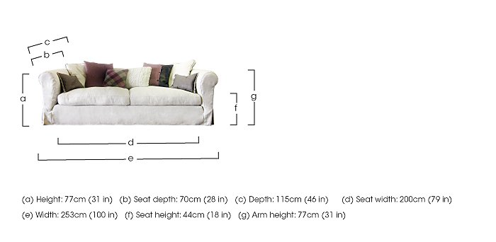 Lexington 4 Seater Fabric Sofa in  on FV