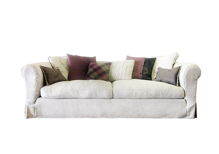 Lexington 4 Seater Fabric Sofa in Saville - Natural on FV