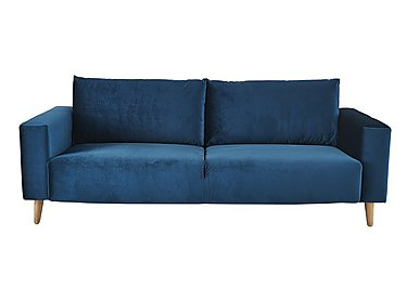Magnus 2 Seater Fabric Sofa in Genova-603 Turquoise-Nat Feet on FV