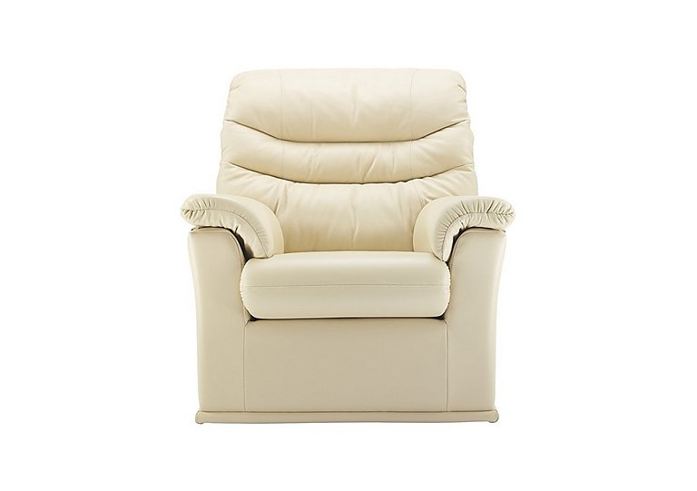 Malvern Leather Recliner Armchair in P206 Capri Cream on FV