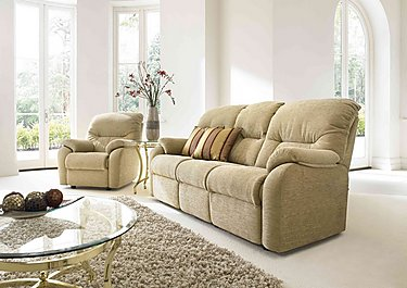 Mistral 2 Seater Fabric Recliner Sofa in  on FV
