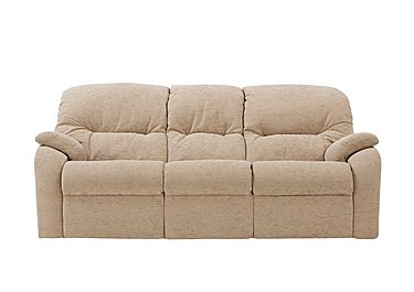 Mistral 3 Seater Fabric Recliner Sofa in B719 Naples Cream on FV