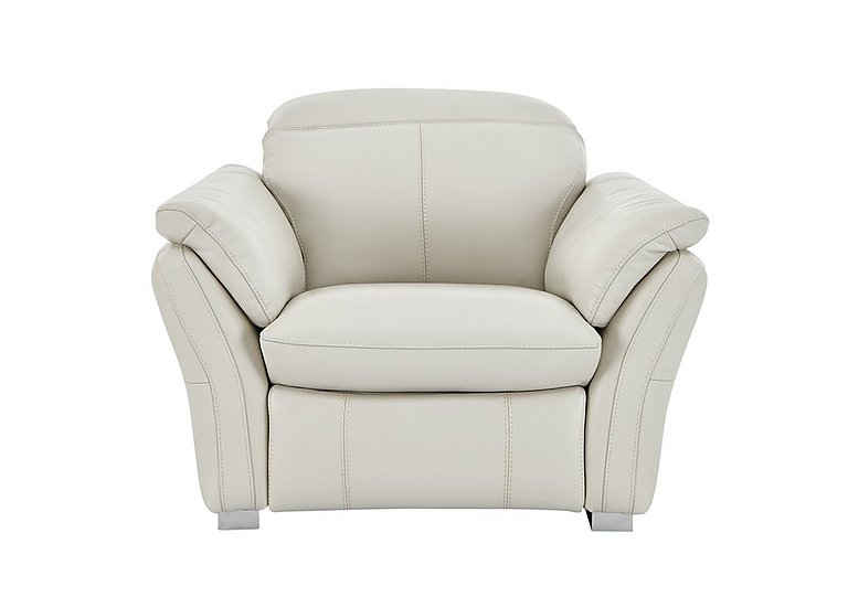 Mustang Leather Recliner Armchair in Nc-156e Frost on FV