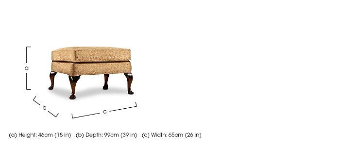 Penshurst Fabric Footstool  in {$variationvalue}  on FV