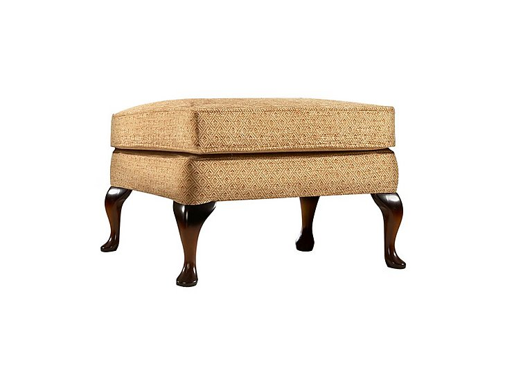 Penshurst Fabric Footstool in B50321-346 Jet Honey on FV