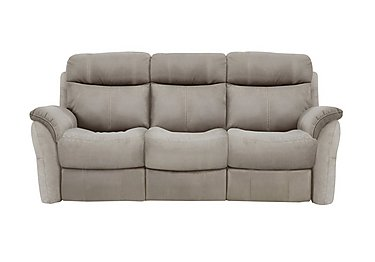 Relax Station Revive 3 Seater Fabric Recliner Sofa in Bfa-Blj-R946 Silver Grey on FV