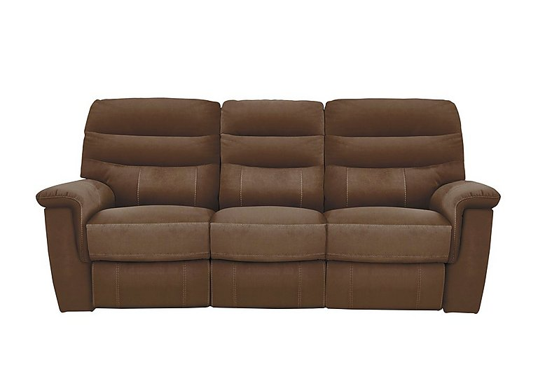 Relax Station Serenity 3 Seater Fabric Recliner Sofa