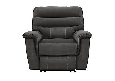 Relax Station Serenity Fabric Recliner Armchair in Bfa-Blj-R16 Grey on FV
