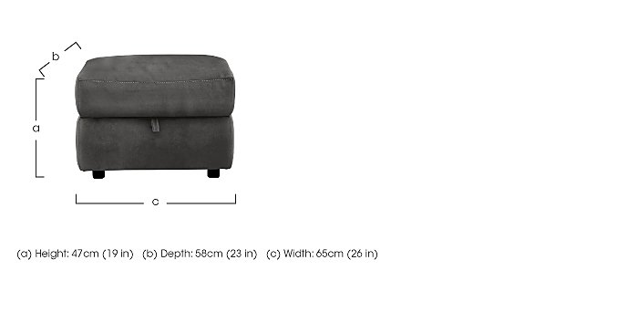 Relax Station Serenity Fabric Storage Footstool in  on Furniture Village
