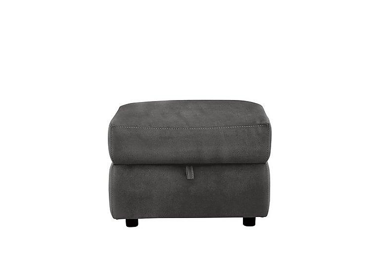 Relax Station Serenity Fabric Storage Footstool in Bfa-Blj-R16 Grey on Furniture Village