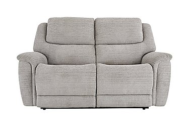 Sheridan 2 Seater Fabric Recliner Sofa in 5th Ave Plain Nickel 40526 on FV