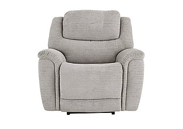 Sheridan Fabric Recliner Armchair in 5th Ave Plain Nickel 40526 on FV