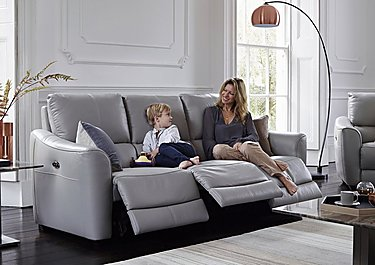Trilogy 3 Seater Fabric Recliner Sofa in  on FV