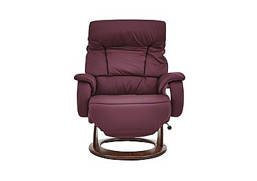 Zerostress Venus Leather Recliner Armchair in Longlife - Merlot on FV