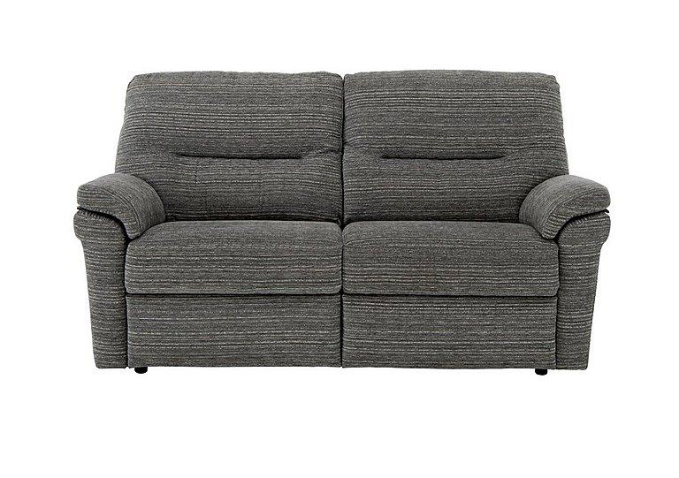 Washington 2 Seater Fabric Recliner Sofa in B902 Victoria Grey on Furniture Village