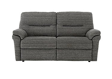 Washington 2 Seater Fabric Recliner Sofa in B902 Victoria Grey on FV