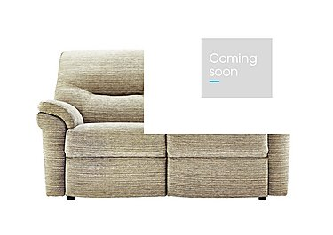 Washington 2 Seater Fabric Recliner Sofa in B906 Victoria Jute on FV