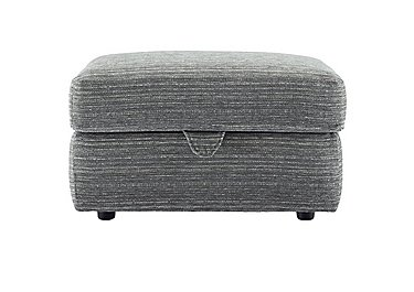 Washington Fabric Storage Footstool in B902 Victoria Grey on FV