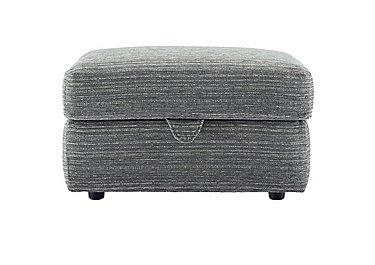 Washington Fabric Storage Footstool in B902 Victoria Grey on Furniture Village