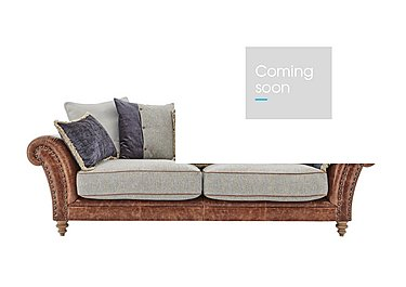 Westwood 3 Seater Leather Sofa in Sky Blue Wool/Velvet Slate on FV